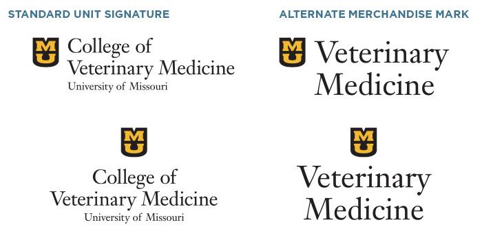 Examples of University of Missouri merchandise marks